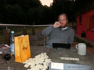 Spielen auf der Terrasse